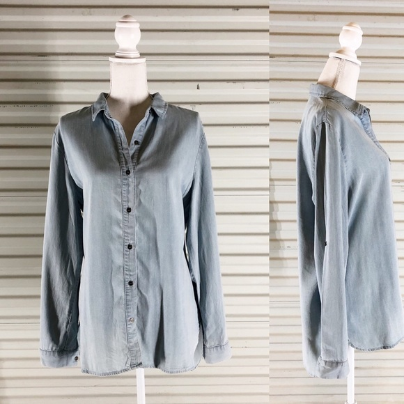 90a4975c99 Chelsea & Theodore Tops | Chelsea Theodore Womens Lrg Button Down ...